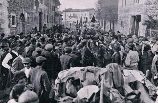 Il 4 novembre 1918, con la vittoria dell'esercito italiano su quello austro-ungarico, l'Italia vinceva la Prima guerra mondiale, foto di www.storiaememoriadibologna.it
