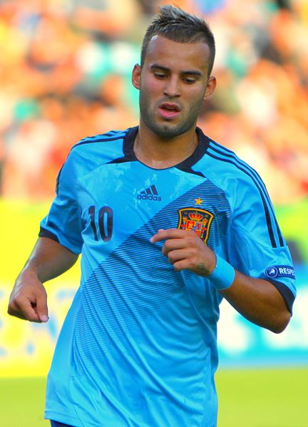 Jesé Rodriguez, fonte By Catherine Kõrtsmik from Tallinn, Estonia - U-19 Portugal vs Spain.Uploaded by Dudek1337, CC BY 2.0, https://commons.wikimedia.org/w/index.php?curid=20205289