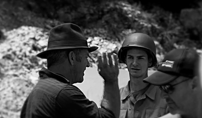 Mel Gibson e Andrew Garfield sul set di