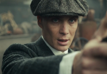 Cillian Murphy in Peaky Blinders, fonte screenshot youtube