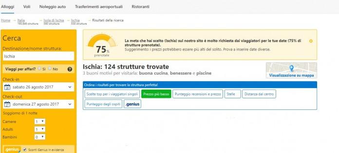 booking terremoto ischia