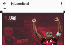 Juan, ex difensore della Roma, sul proprio profilo Instagram