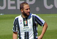 Gonzalo Higuain fonte foto: Di Photo by Leandro Ceruti from Rosta, ItaliaCropped and retouched by Danyele - juve 6 leggenda (original photo), CC BY-SA 2.0, https://commons.wikimedia.org/w/index.php?curid=59303377