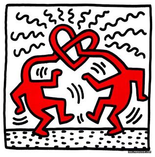 Keith Haring, Senza titolo (Amore), 1989, Hamilton Selway Fin Art, Hollywood. Fonte: Svirgolettate