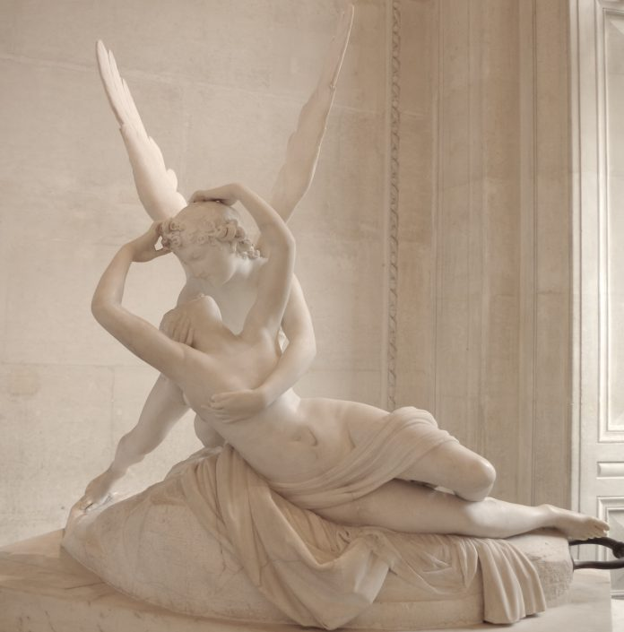 Antonio Canova, Amore e Psiche, 1793, Musée du Louvre, Parigi. Fonte: Wikipedia