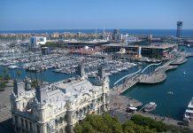 Vista del porto di Barcellona, Foto Wikipedia