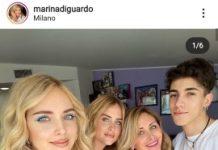 Chiara Ferragni con parenti. Fonte: Instagram.