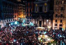 Napoli, festeggiamenti Coppa Italia