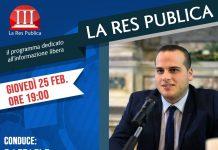 Giovedì 25 febbraio ospite de 'La Res Publica' Edoardo Desiderio, fondatore della Terni Digital Week