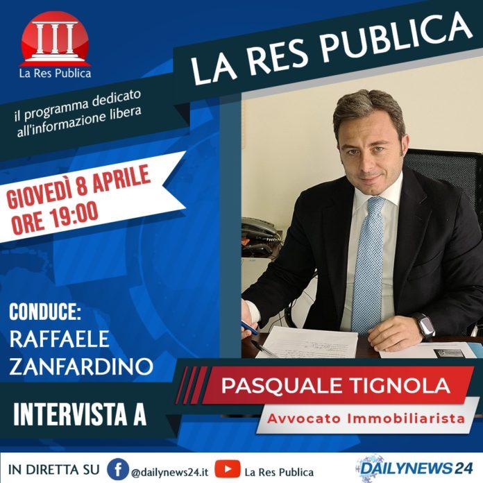 Pasquale Tignola, consigliere comunale di Casoria, sarà ospite de 'La Res Publica' giovedì 8 aprile