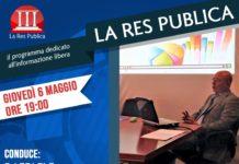 Mario Guarino ospite de 'La Res Publica' giovedì 6 maggio 2021