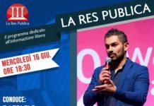 Cosmano Lombardo ospite de 'La Res Publica' mercoledì 16 giugno 2021